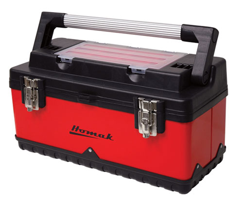 "Tool Box 23"" Red/Black W/Bins"