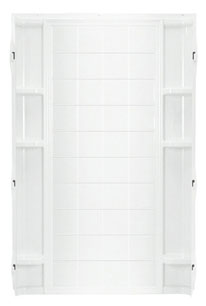 "Shower Backwall 36"" White"