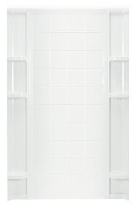 "Shower Backwall 48"" White"