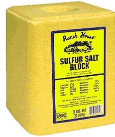 Salt Block 50# Sulfur Added