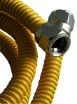 "Gas Connector 3/4x24"" Poly Ss"