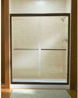 Shower Door Bypass Frmless 47""