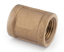 "Coupling Brass 1-1/4"" Pipe Nl"