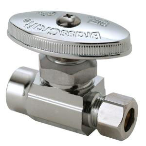 Valves: Stops, Water Supply, Straight