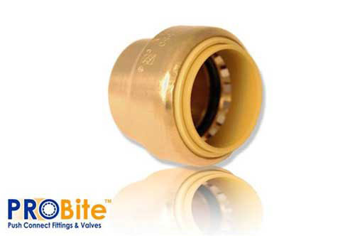 "End Cap Brass Push Fit 3/4"" Lf"