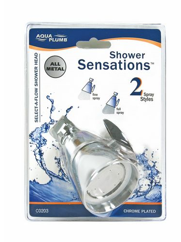"Shower Head 2.25"" Adj Ch Br Cd"