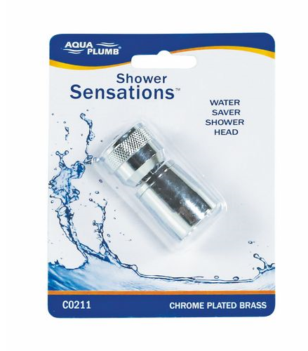 "Shower Head Bullet 1"" Cp Br Cd"