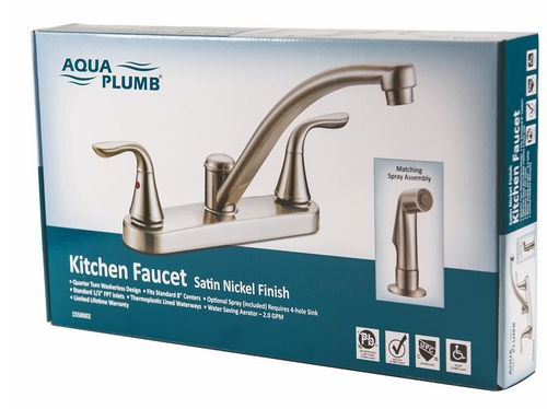 Faucet Kit 2-Handle Sn W/Spray