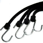 "Tarp Strap 9"" Black Rubber"