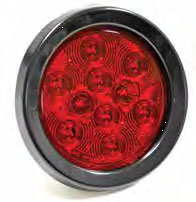 "Tail Lght 4"" Led Round-Red"