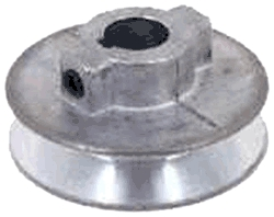 "Pulley 5""x1/2"" Zinc Die-Cast"