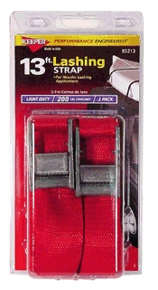 Lashing Strap 13' Keeper 2/Pk