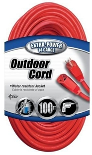 Ext.Cord 100' 14/3 Sjtw Red