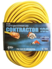 Ext.Cord 100' 12/3 Sjtw Yellow