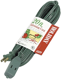 Ext.Cord 12' Cube Tap Green