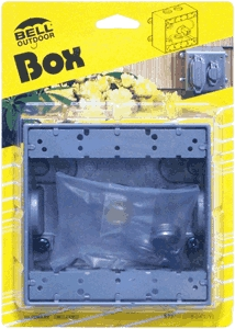 Box 2-Gang Outdoor Outlet Gray