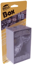 Box 1-Gang Outdoor Outlet Gray