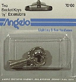 Socket Key Knob 2/Pk