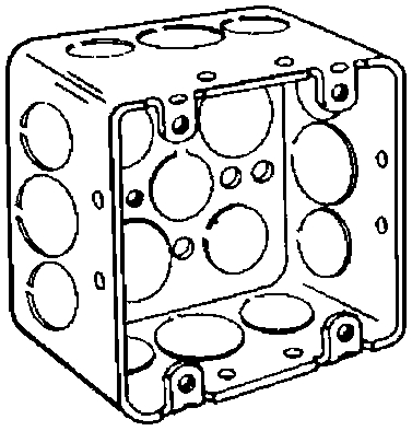 "Box 4""square Drawn-Steel"