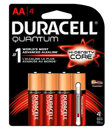 Battery Aa Quantum 4/Pk