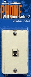Phone Jack Surface Mt+2 Ivory