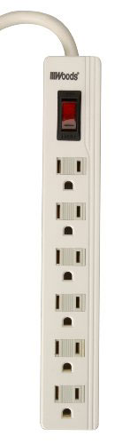 Power Strip 6 Outlet W/2' Cord
