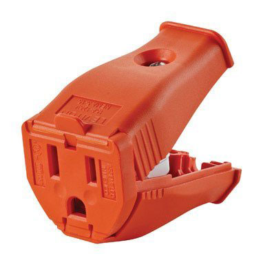 Connector 3-Wire Hinged Orange