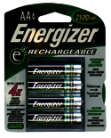 Battery Aa Rechargeable 4/Cd