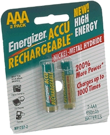 Battery Aaa Rechargeable 2/Cd
