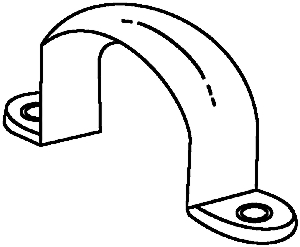 Conduit Fittings: Pvc, Straps, 2-Hole