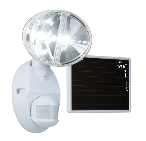 Floodlight 100led Solar Md Wht