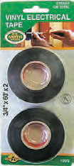 "Elect Tape 3/4""x60' Black 2/Cd"