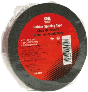 "Tape Rubber 3/4""x22' Black"