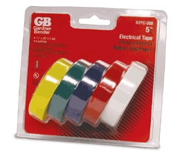 "Elec Tape 1/2""x20' Asst Colors"