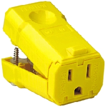 Connector 15a/125v Yellow