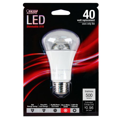 Bulb 40w A19 Dimmable Clear
