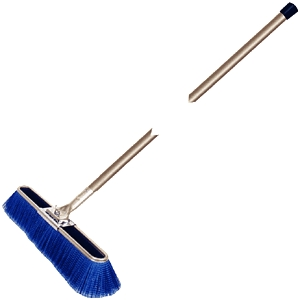 "Broom 23"" Fin Bruske W/Wood Hd"