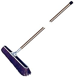 "Broom 17"" Cor Bruske W/Wood Hd"