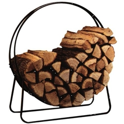 "Log Hoop 40"" Indoor Black"
