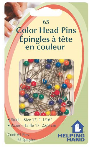 65 Pc Color Head Pins