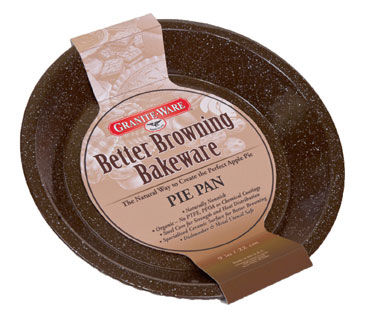 "Pie Plate 9"" Brown"