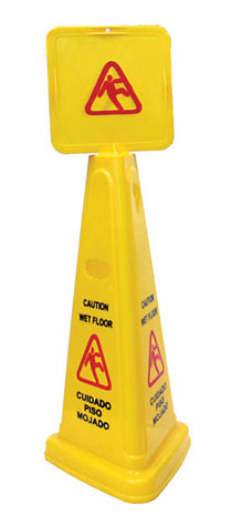 "Caution Sign ""wet Floor"" Cone"