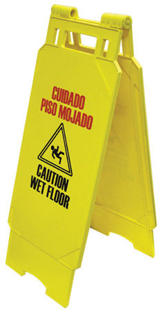 "Caution Sign ""wet Floor"" Yellw"