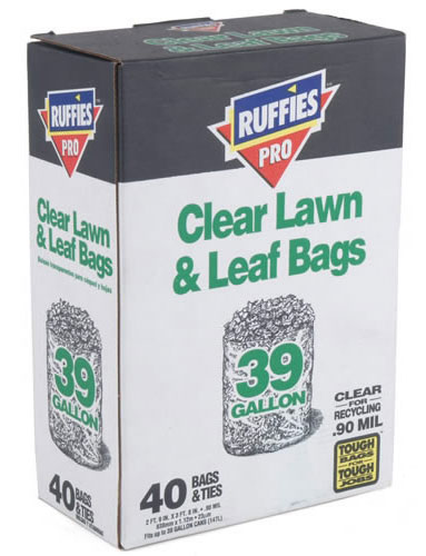 Lawn/Leaf Bag 39gl Clear 40bx