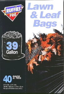 Lawn/Leaf Bag 39gl Black 40bx
