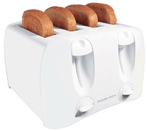 Toaster 4-Slice White