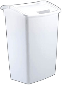 Wastebasket 45-Qt Dual-Action