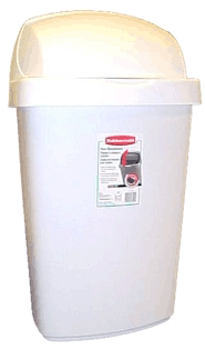 Wastebasket 50-Lt Roll-Top Lid