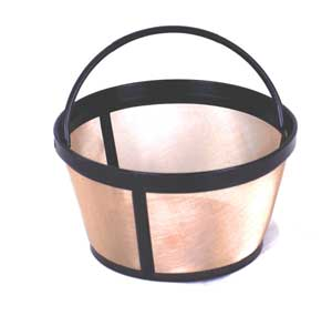 Coffee Filter Gold Tone Basket
