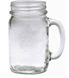Mug Mason Jar Plain 16 Oz